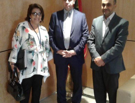 رئيس لجنة التعليم والثقافة  والاتصال بمجلس النواب يستقبل ممثلين عن الائتلاف الوطني من أجل اللغة العربية